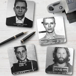 Celebrity Mugshots Coaster Set