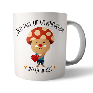 Mushroom in my Heart Ceramic Mug - Needs & Wishes Art