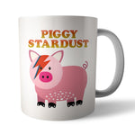 Piggy Stardust Ceramic Mug - Needs & Wishes Art