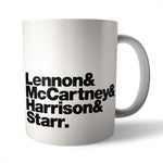 Beatles Band Line-Up Mug - Needs & Wishes Art