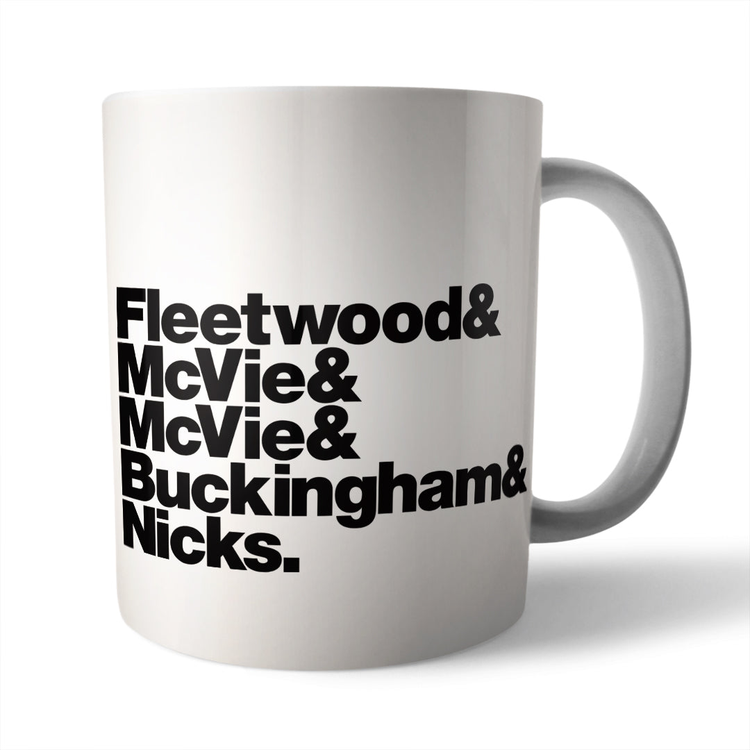 Fleetwood Mac Band Line-Up Mug - Needs & Wishes Art