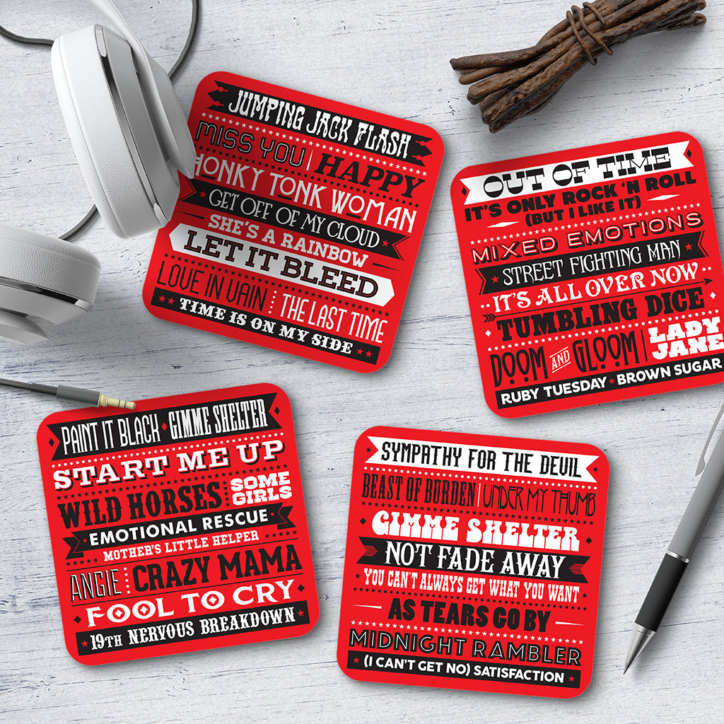 Rolling Stones Song Titles Coaster Set