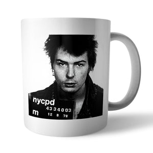 Sid Vicious Mugshot Mug - Needs & Wishes Art