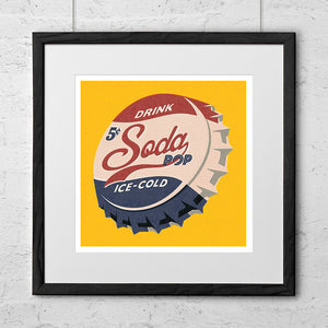 Soda Pop Top Art Print - Needs & Wishes Art