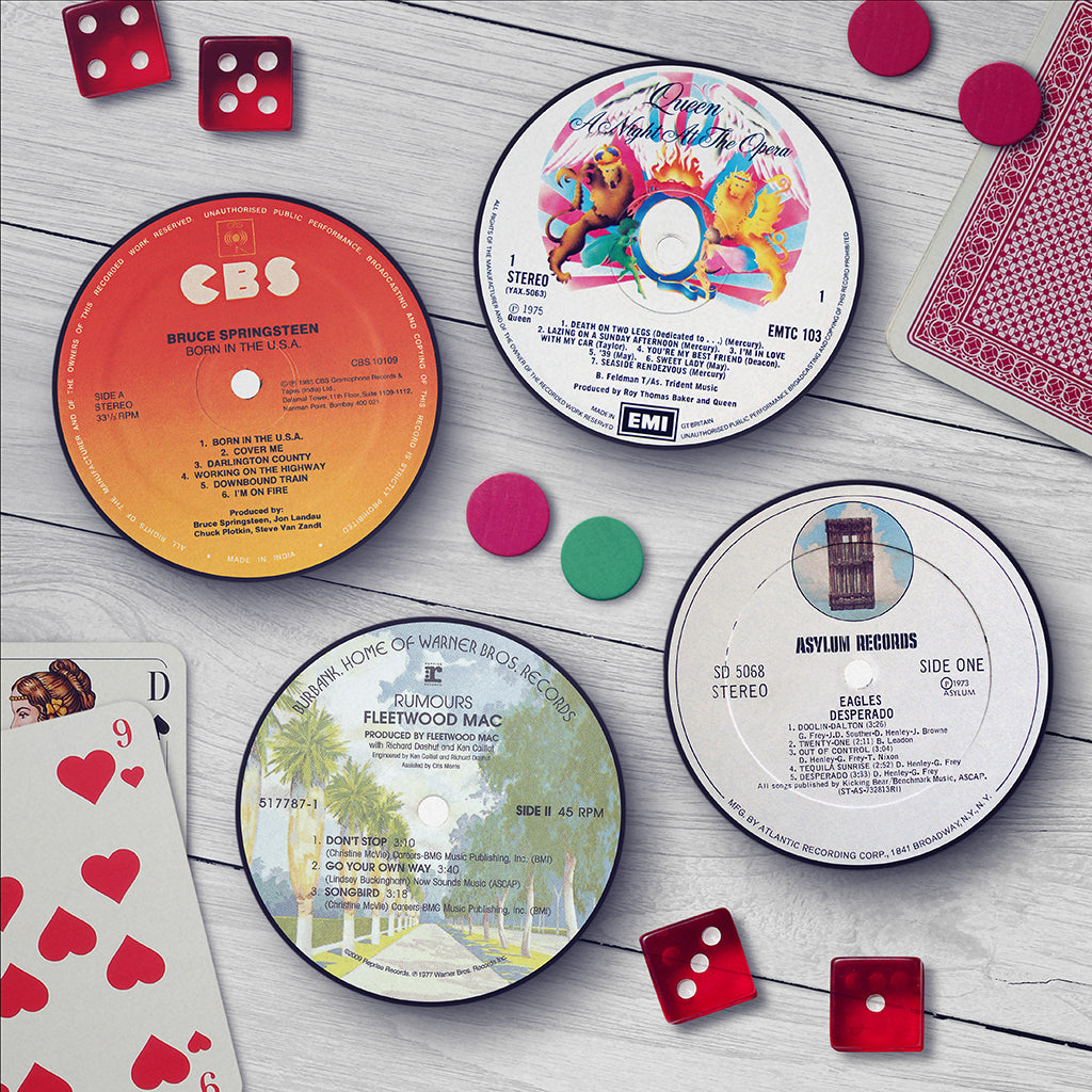 Classic Album Record Label Coaster Set