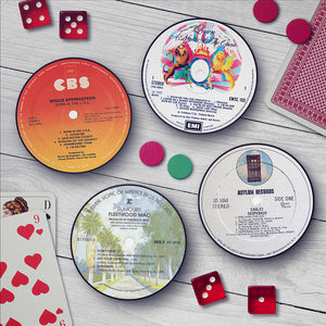 Classic Album Record Labels Coaster Set - Needs & Wishes Art