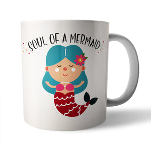 Soul of a Mermaid, Mouth of a Pirate Ceramic Mug