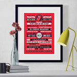 Rolling Stones Songs Typographic Art Print - Needs & Wishes Art
