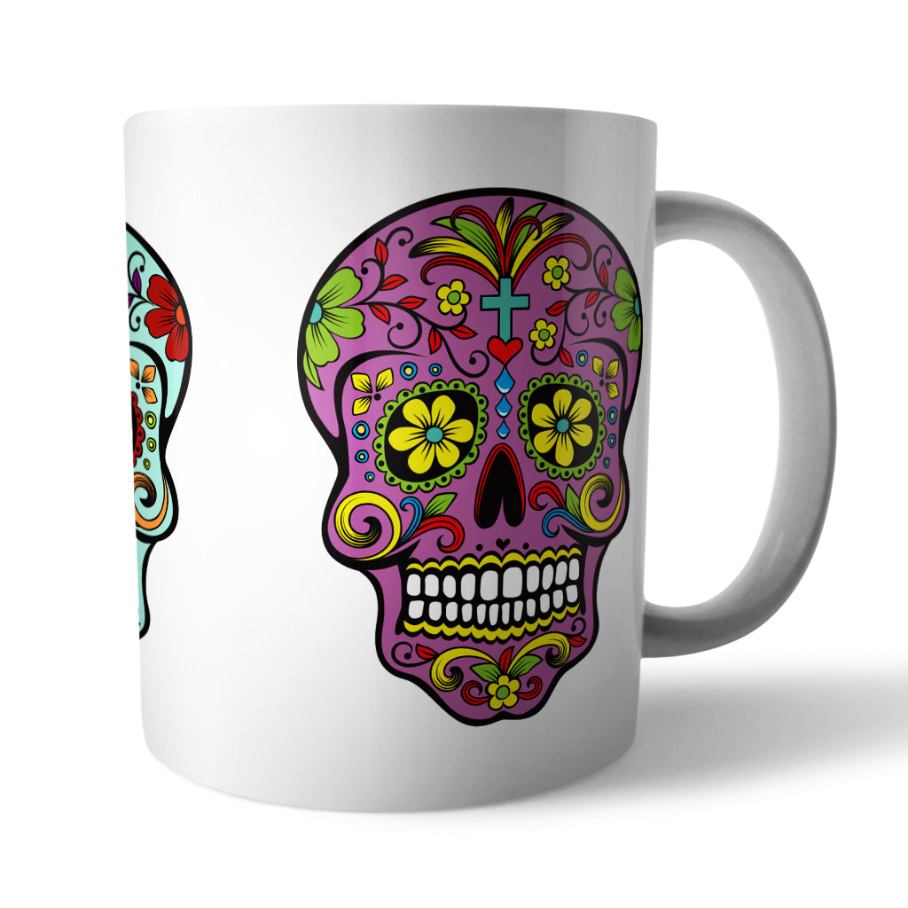 Sugar Skull Mug - Needs & Wishes Art