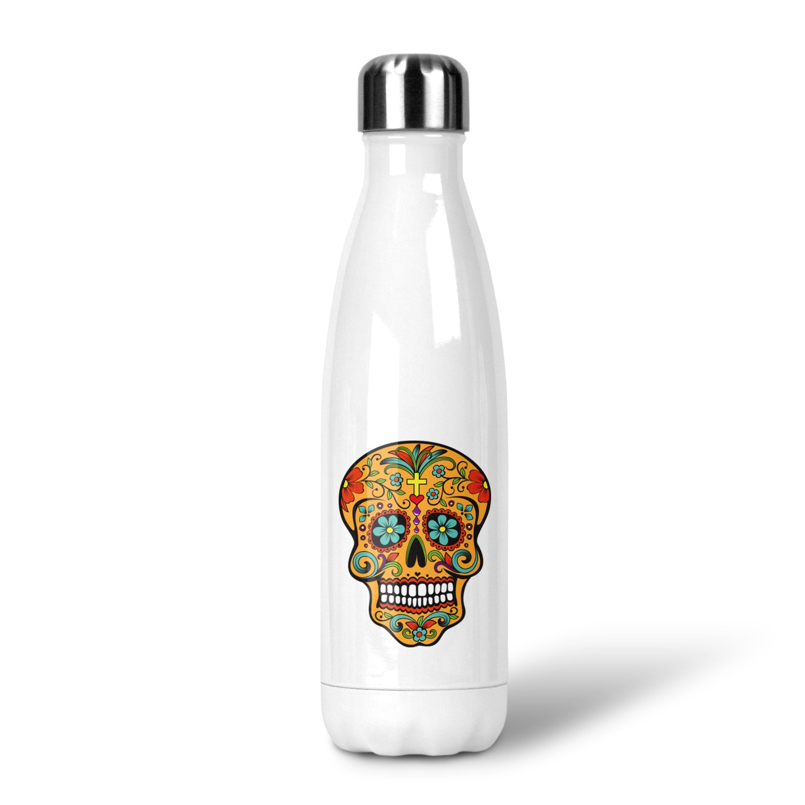Sugar Skull Stainless Steel Drink Bottle