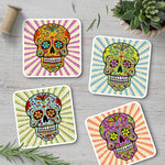 Sugar Skull Coaster Set - Needs & Wishes Art