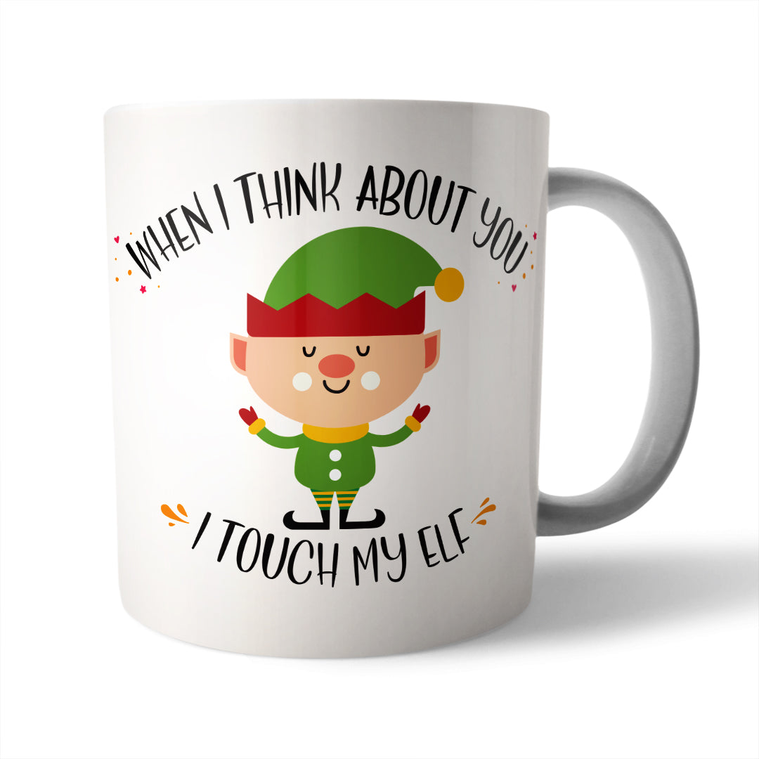 Touch my Elf Christmas Mug - Needs & Wishes Art