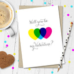 Will You Be My Valentine? Valentines Day Card. - Needs & Wishes Art