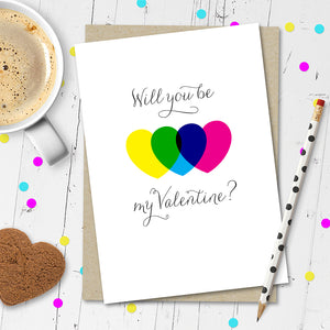 Will You Be My Valentine? Valentines Day Card.