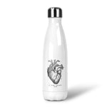 Vintage Heart Stainless Steel Drink Bottle