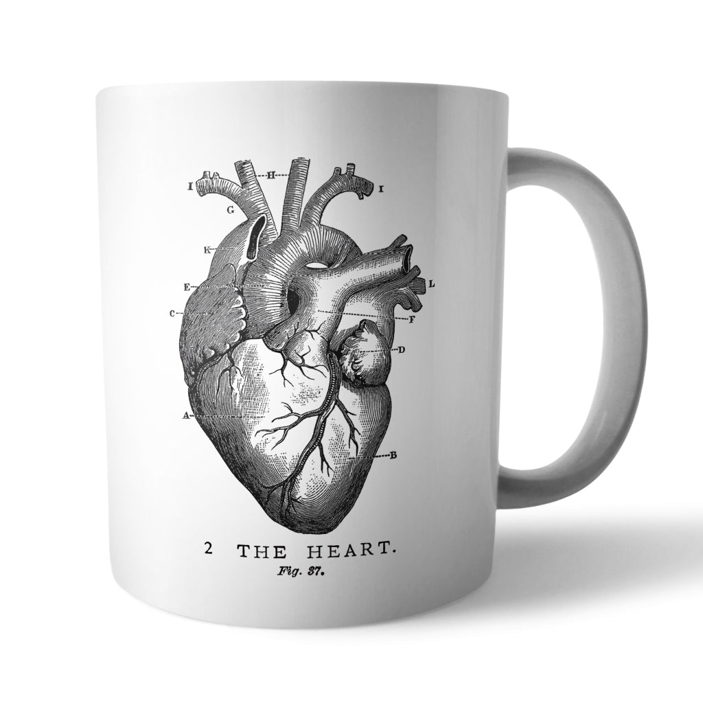 Vintage Heart Mug - Needs & Wishes Art