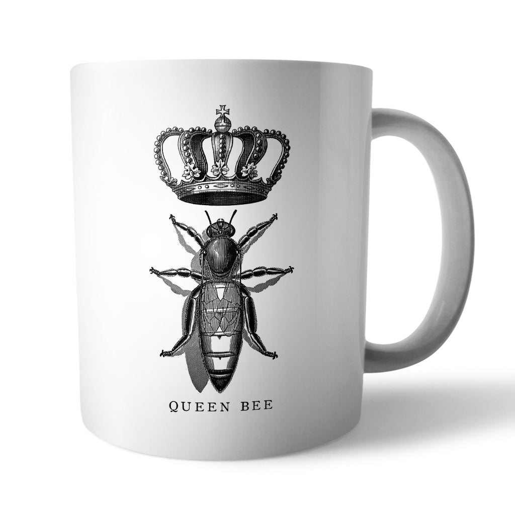 Vintage Queen Bee Mug - Needs & Wishes Art
