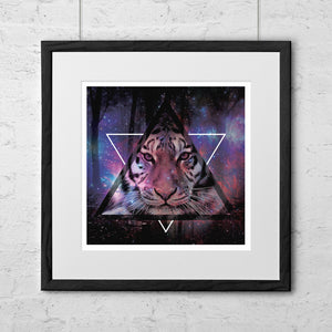 Wood Tiger Art Print - Needs & Wishes Art