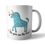 You give me the horn Ceramic Mug - Needs & Wishes Art