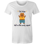 Busy Bear Womens Crew T-Shirt