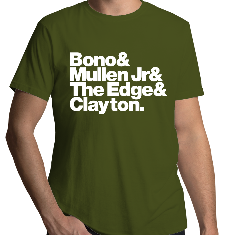 U2 Band Line-Up Mens T-Shirt