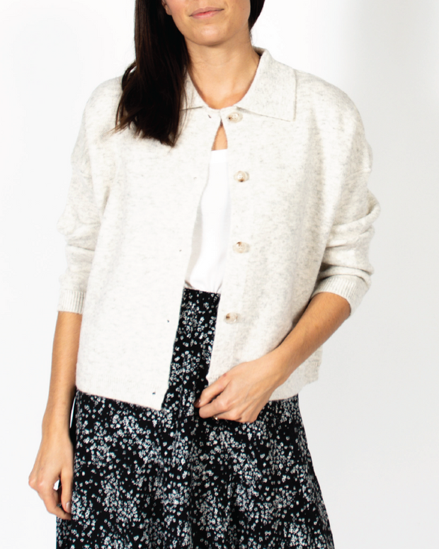 Sweetheart Buttoned Sweater