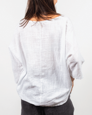 3/4 Sleeve Top in Italian Linen