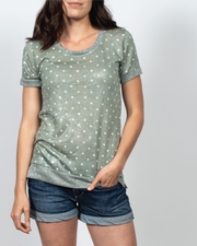 Polka Dot Top in Italian Viscose