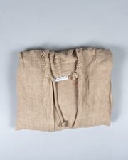 Drawstring Hooded Jacket in Italian Linen