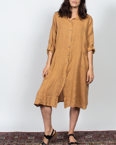 Button Down Dress in Italian Linen