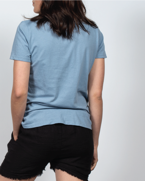Essential V-Neck Tee in Blue