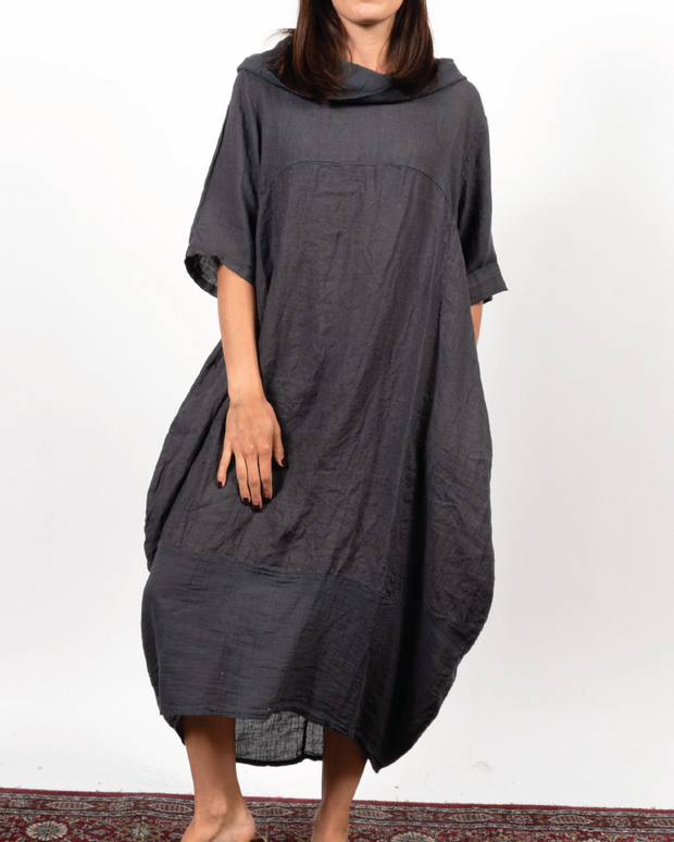 Cowl Dress in Italian Linen