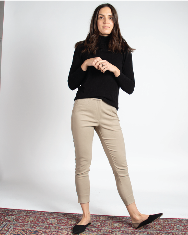 THE CORE CROPPED TROUSER IN DARK STONE