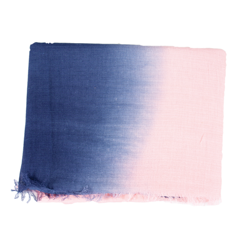 Blue Pink Ombré Light Weight Scarf