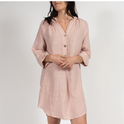 Rose Tunic Dress with Italian Linen