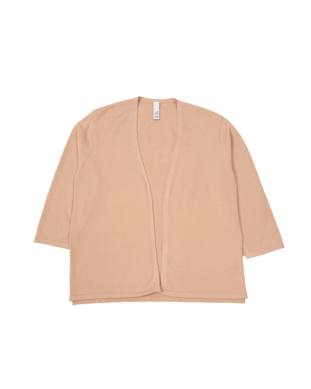 THE CORE CROPPED CARDIGAN IN APRICOT