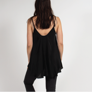 Black Cami Top Italian Silk