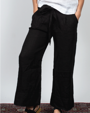 Front Tie Belt Pants in Italian Linen