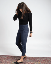 THE CORE CROPPED TROUSER IN NAVY