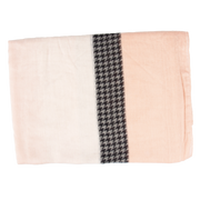 Pink Check Light Weight Scarf