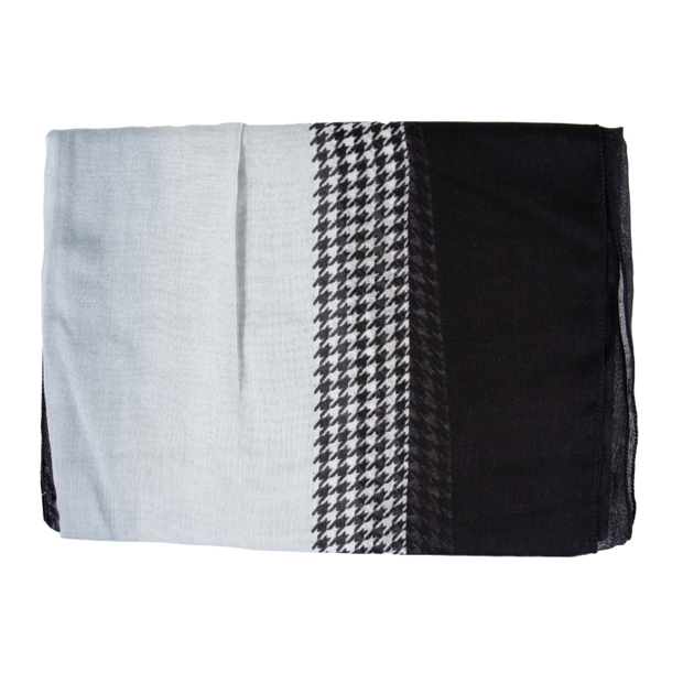 Black Check Light Weight Scarf
