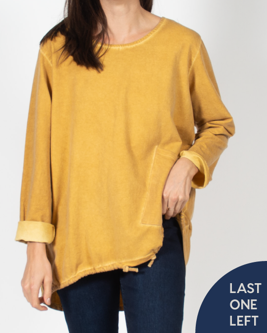 Ochre Cotton Long Shirt