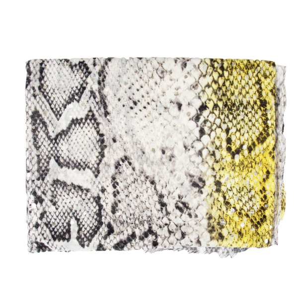 Yellow & Grey Snake Print Light Weight Scarf