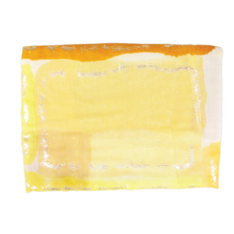 Yellow Rectangle Light Weight Scarf