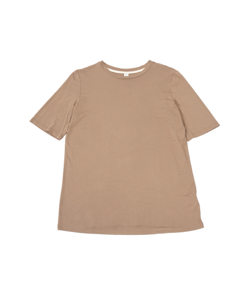 THE CORE MODAL SHORT SLEEVE DARK BROWN