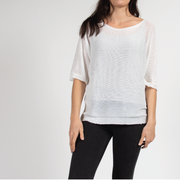 White Pullover in Italian Knit