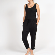 Drawstring Slouch Pants in Italian Cotton