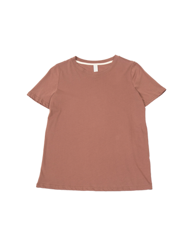 THE CORE TEE IN BROWN