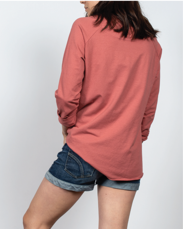 Essential Raglan Sleeve in Red