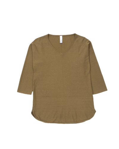 THE CORE KNITTED VNECK IN GREEN
